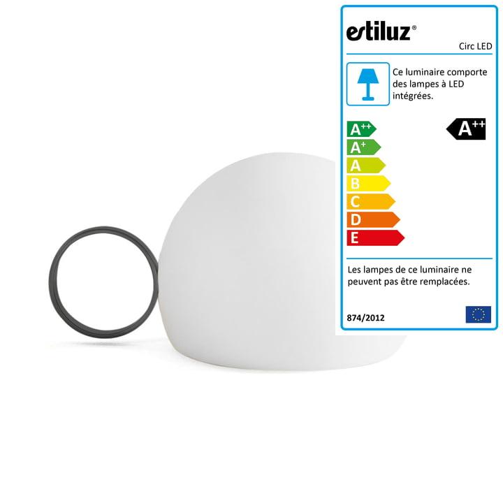 Circ LED M-3726 de la société Estiluz en noir