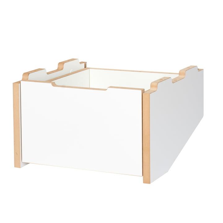 module de base pour conteneur de fret en rouleau, partie inférieure du Tojo en blanc