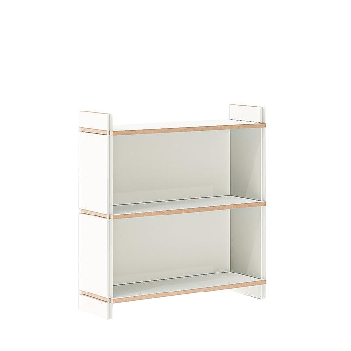 Module de base double à étagères multiples de Tojo en blanc
