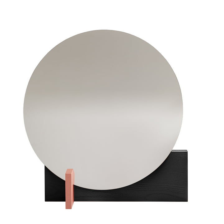 Miroir Hoffmann d'objets de nos jours en noir / aprikosa