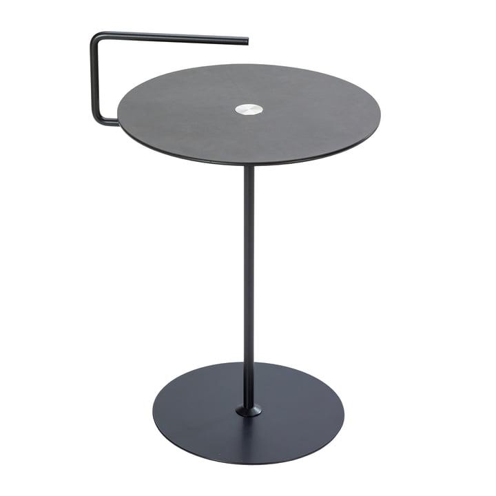 Table d'appoint Pick-Up M Ø 38 x H 50/62 cm de LindDNA en nupo anthracite / gris clair