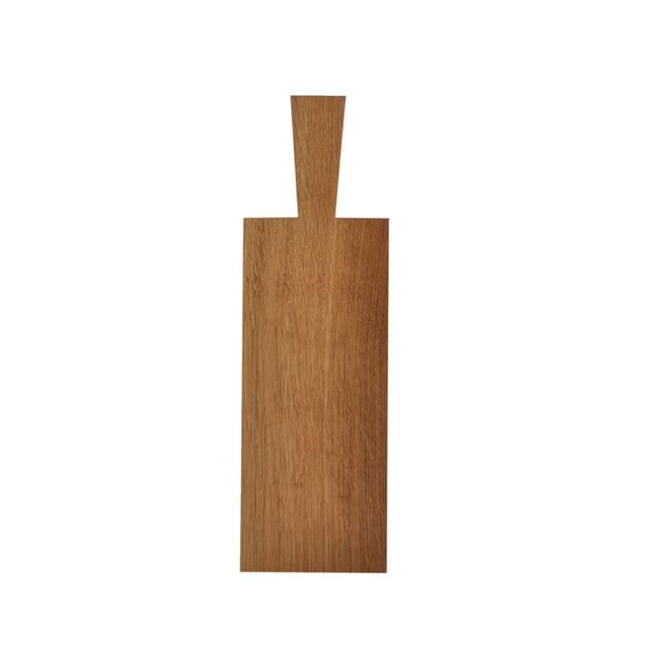 Planche à découper avec manche en chêne huilé clair (29 x 12 x 1,2 cm + manche 10 cm)