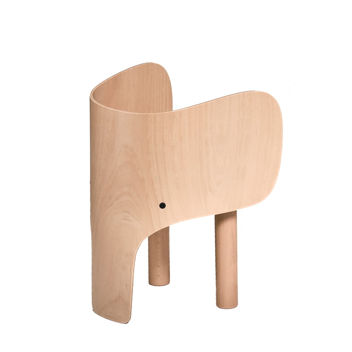 Chaise enfant éléphant par EO Danemark en hêtre verni mat