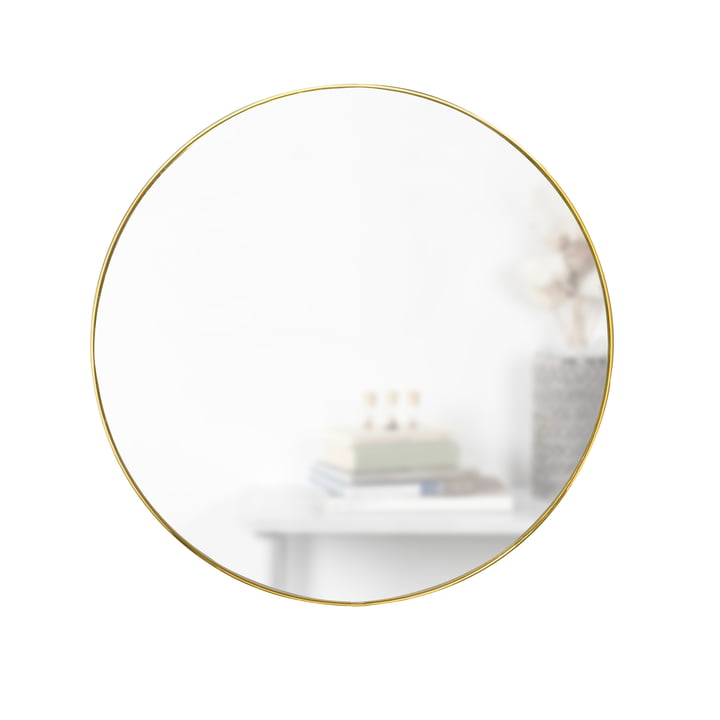 Hubba miroir Ø 86 cm de Umbra en laiton