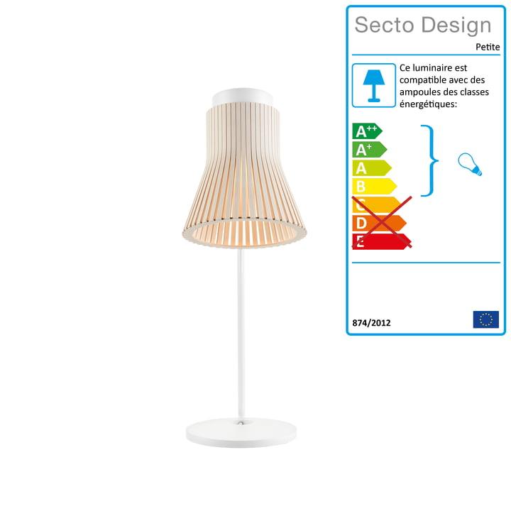 Petite 4620 Lampe de table de Secto en bouleau