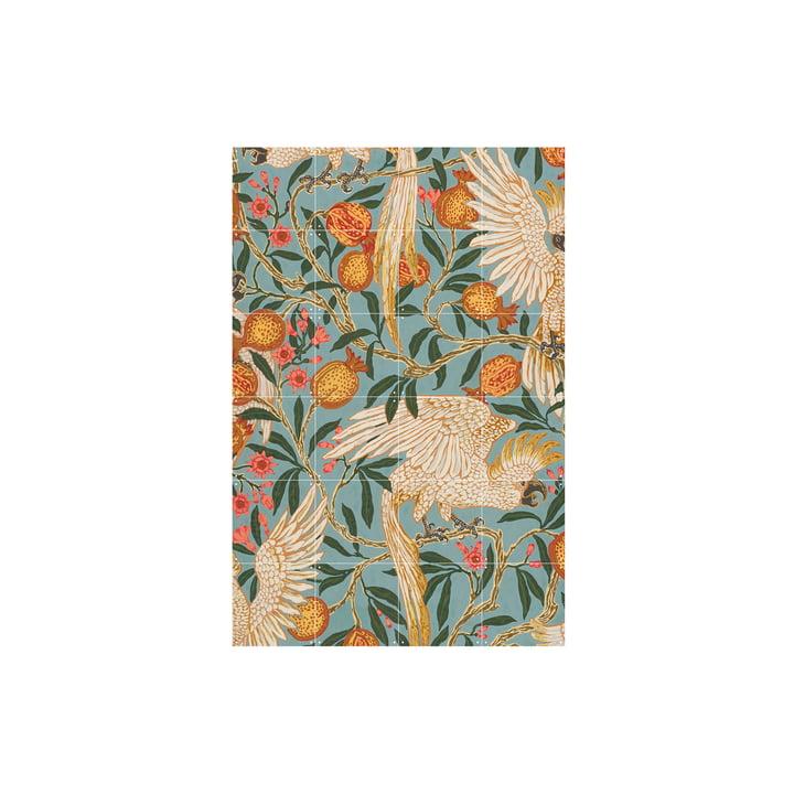 Papier peint au cacatoès et à la grenade (Crane) 80 x 120 cm de IXXI