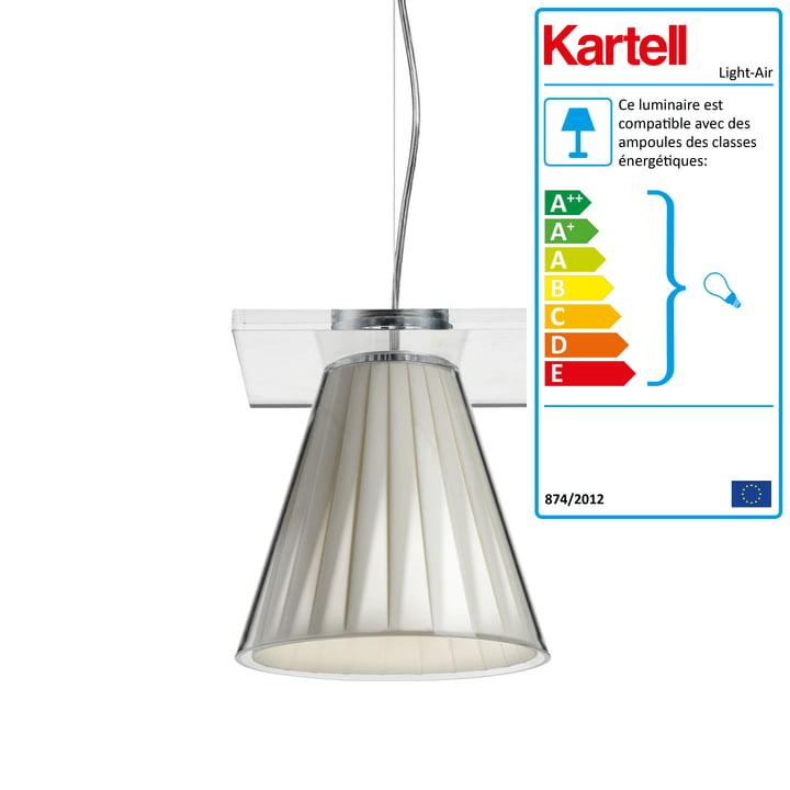 Luminaire suspendu Light-Air, transparent / beige par Kartell