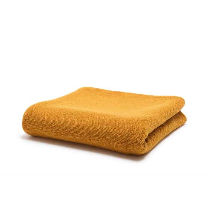 190 Plaid 200 x 130 cm de freistil au curry jaune