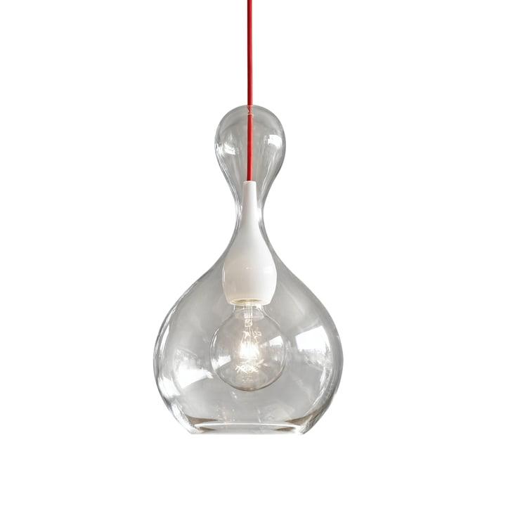 Blubb 1 luminaire suspendu de Next Home en clair / opale / rouge