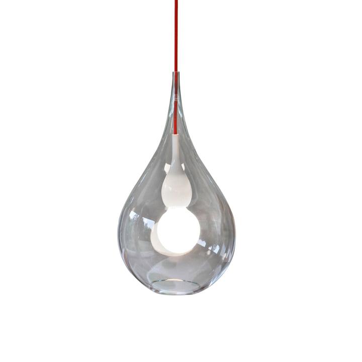 Blubb 2 luminaire suspendu de Next Home en clair / opale / rouge