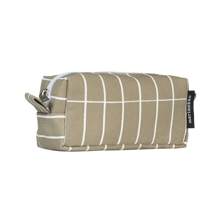 Tiise Tiiliskivi sac à cosmétiques, vert-gris / blanc par Marimekko