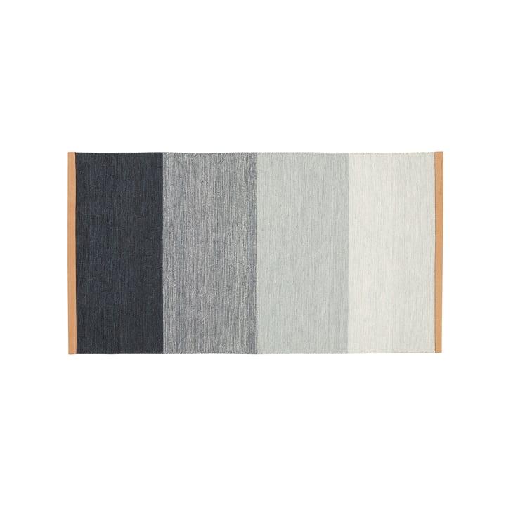Tapis Fields 70 x 130 cm du Design House Stockholm en bleu / gris