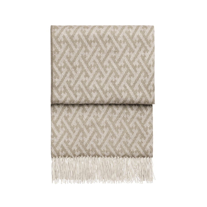 Superbe couverture, beige / blanc par Elvang