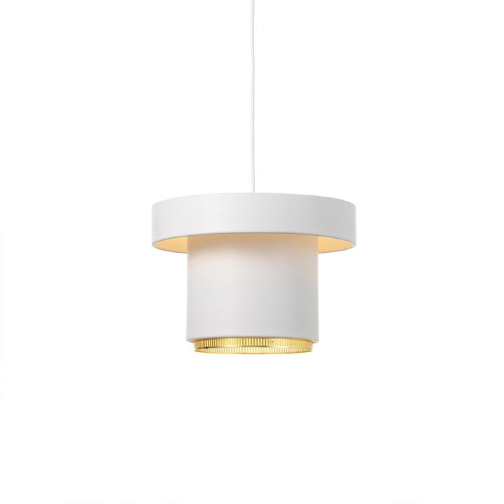 A201 lampe à suspension de Artek en laiton / blanc