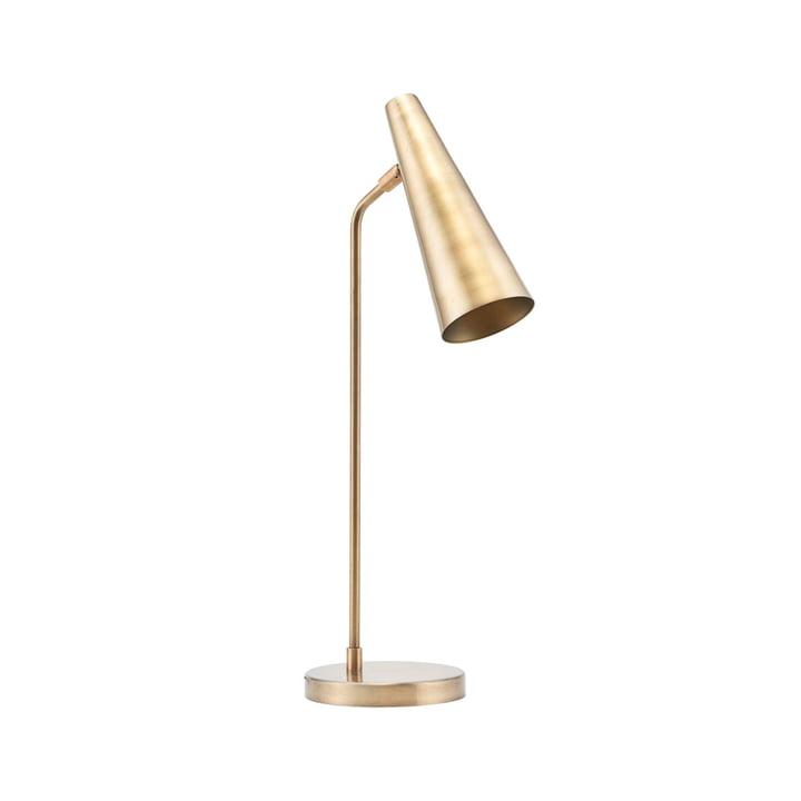 Lampe de table de précision H 52 cm par House Doctor en laiton