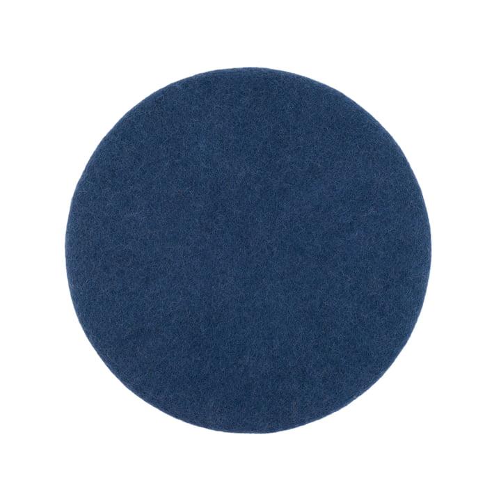 Housse de siège Alva plate Ø 36 cm de myfelt en bleu foncé