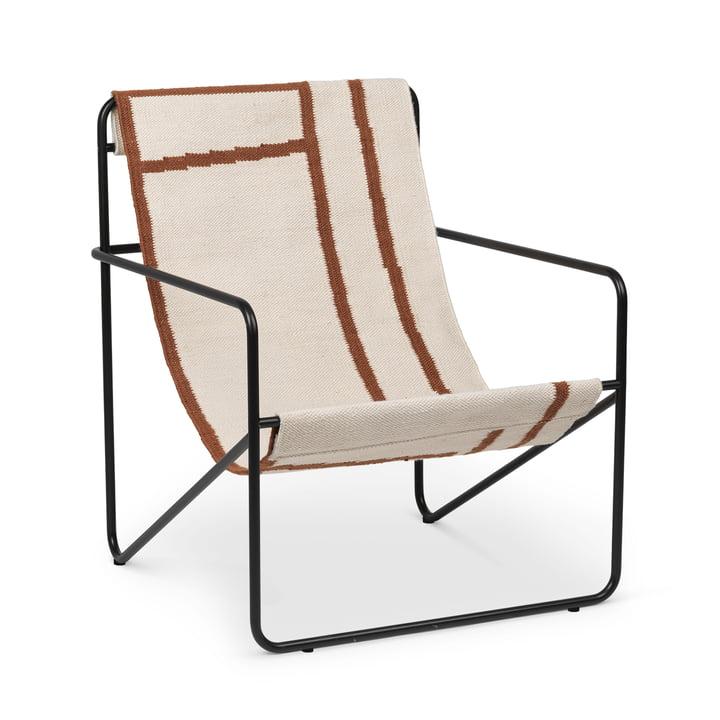 Chaise Desert, noire / shape by ferm Living