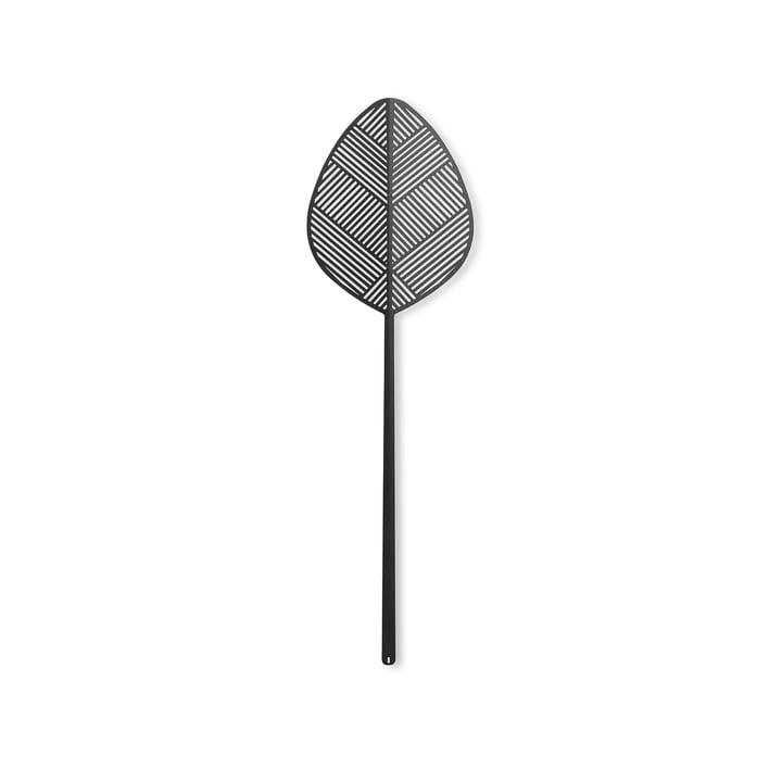Leaflike Feuille de métal Alva H 50,6 cm de Lucie Kaas en noir
