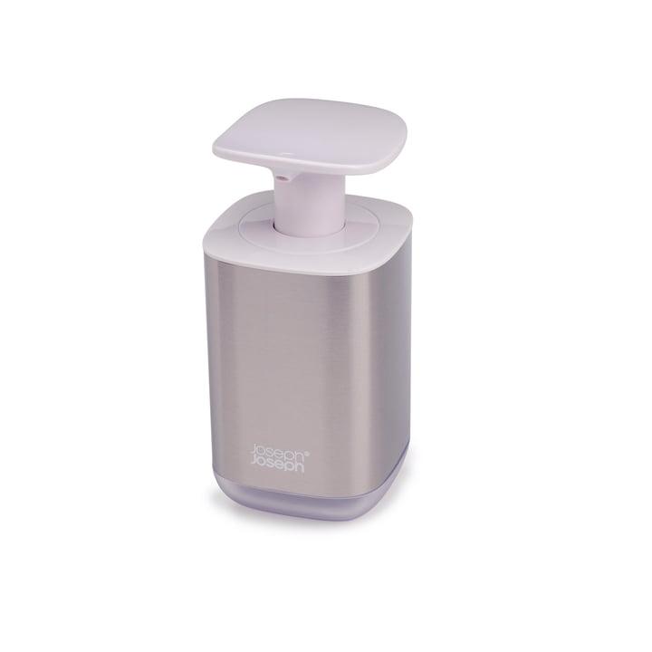 Distributeur de savon Presto Steel, blanc de Joseph Joseph