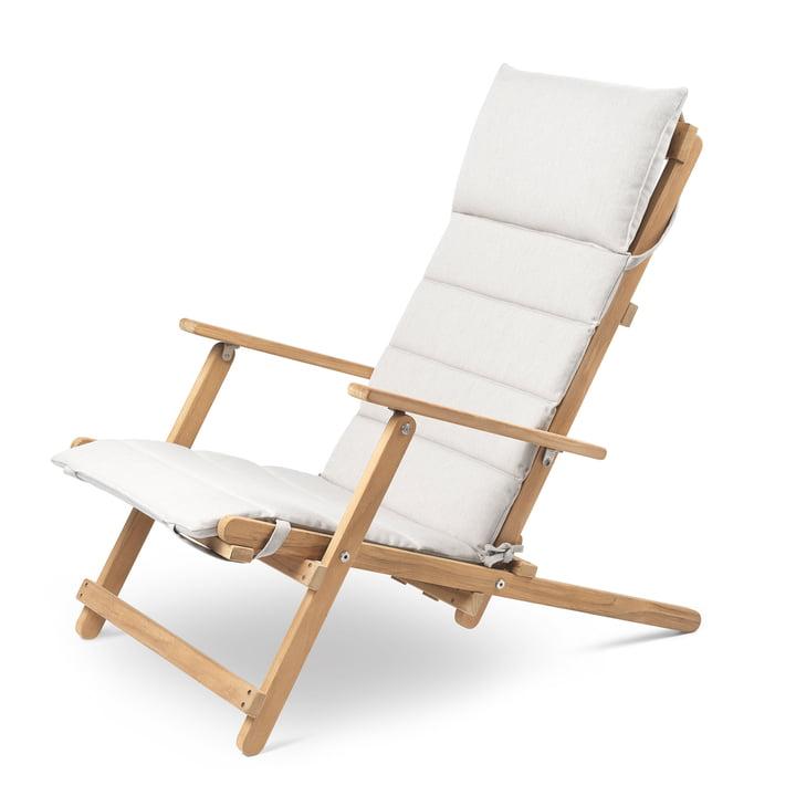 BM5568 Chaise longue avec coussins Carl Hansen en teck non traité