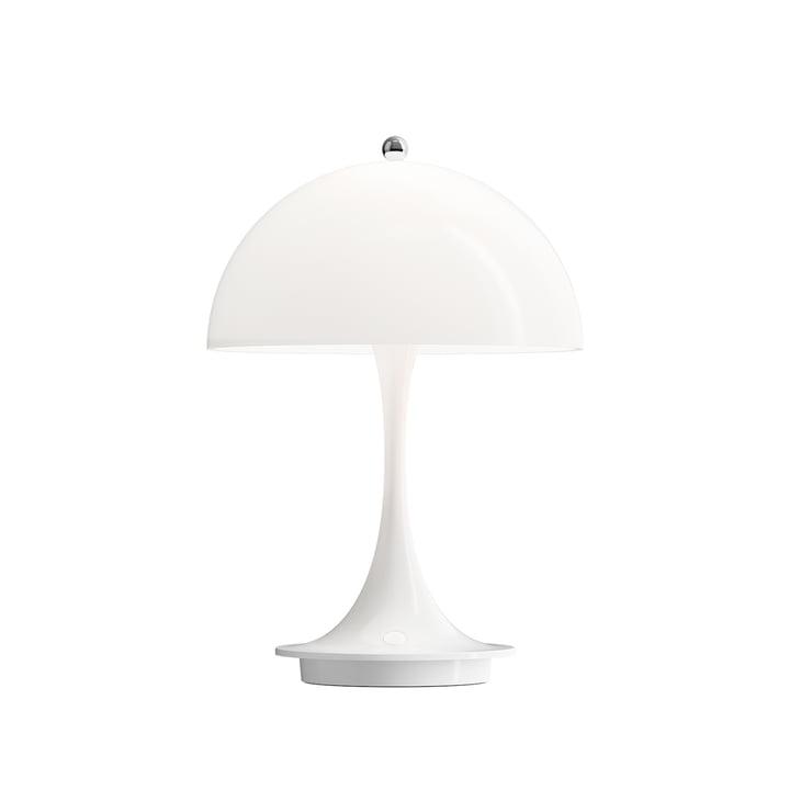 Lampe de table Panthella Portable Battery LED de Louis Poulsen couleur blanche