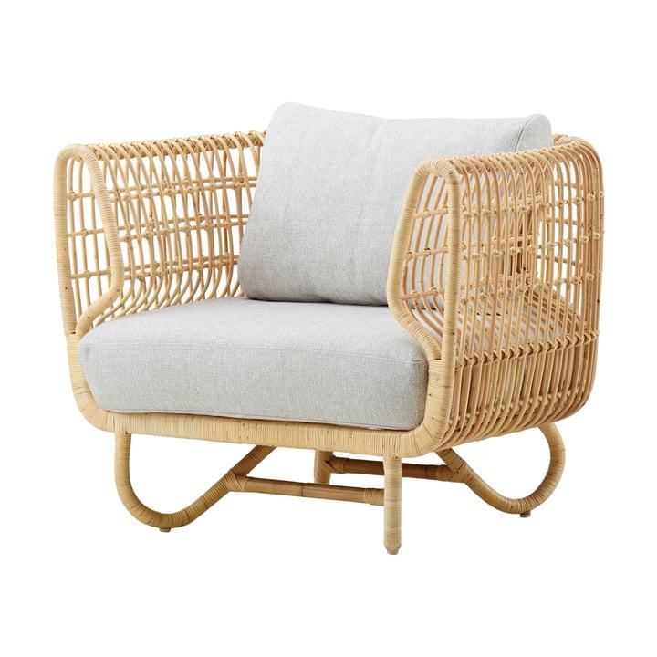 Nest Chaise longue d'intérieur, naturelle / gris clair par Cane-line