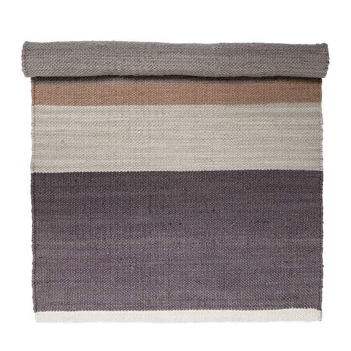 Tapis multicolore, 120 x 60 cm, violet / beige par Bloomingville
