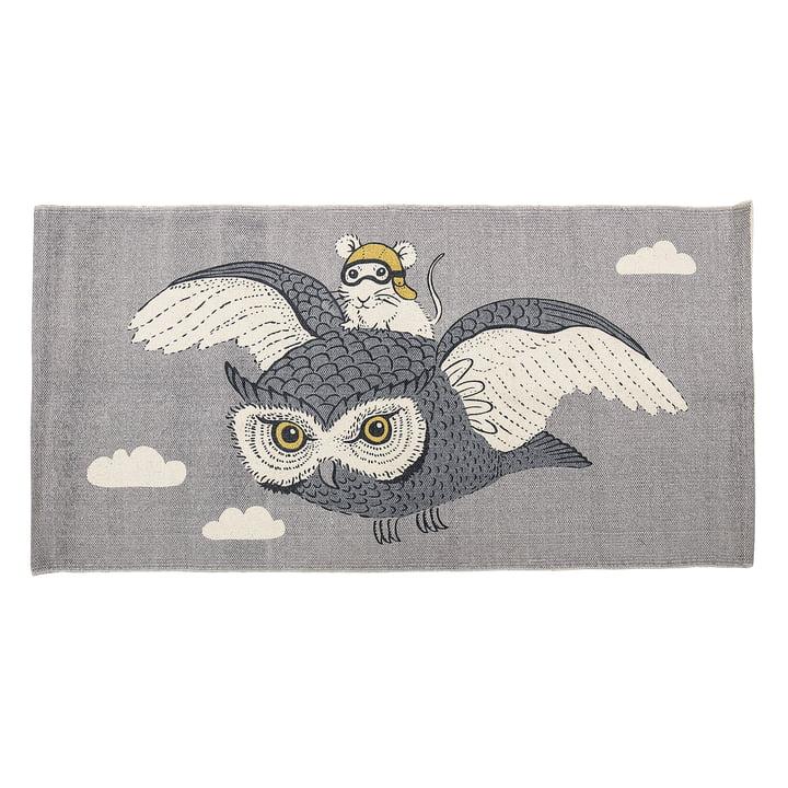 Bloomingville - Jouer au hibou et à la souris, 120 x 60 cm, beige / gris