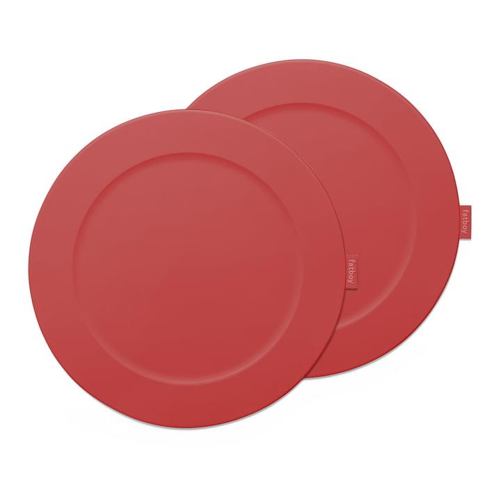 """Set de table Fatboy """"Place-we-met"""" de couleur rouge industriel"""
