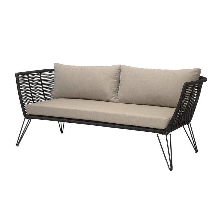 Canapé Mundo avec coussin, noir / beige par Bloomingville