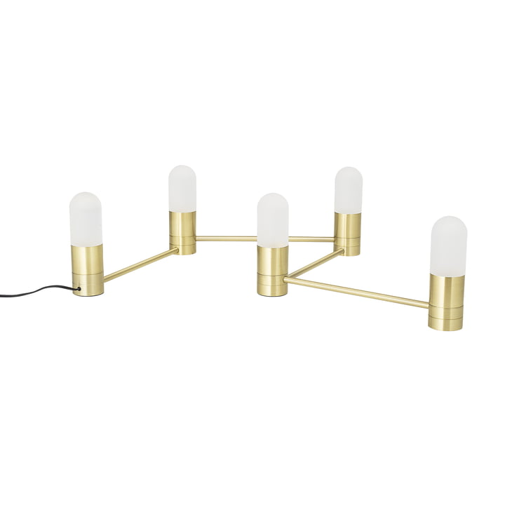 Lampe de table à cinq flammes Bloomingville en or