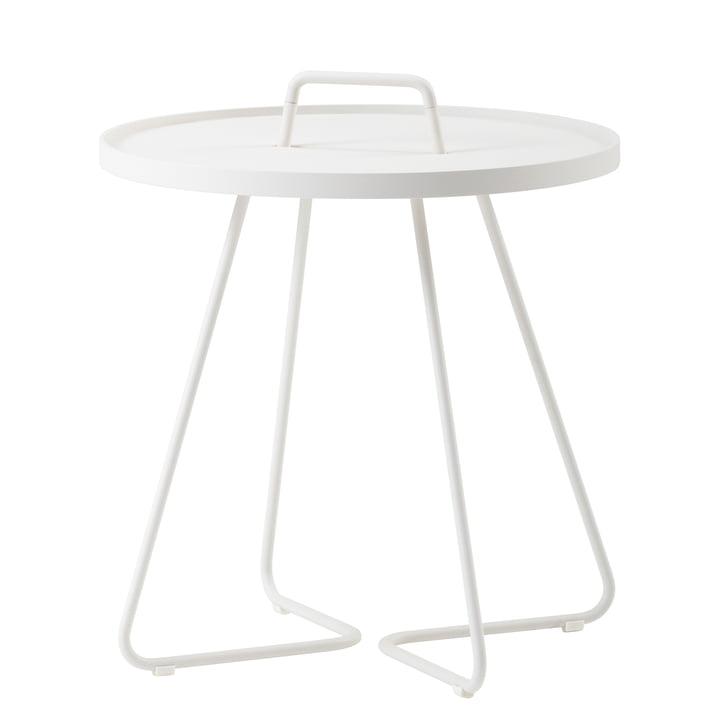 On-the-move Table d'appoint de Caneline en Ø 52 x H 60 cm / blanc