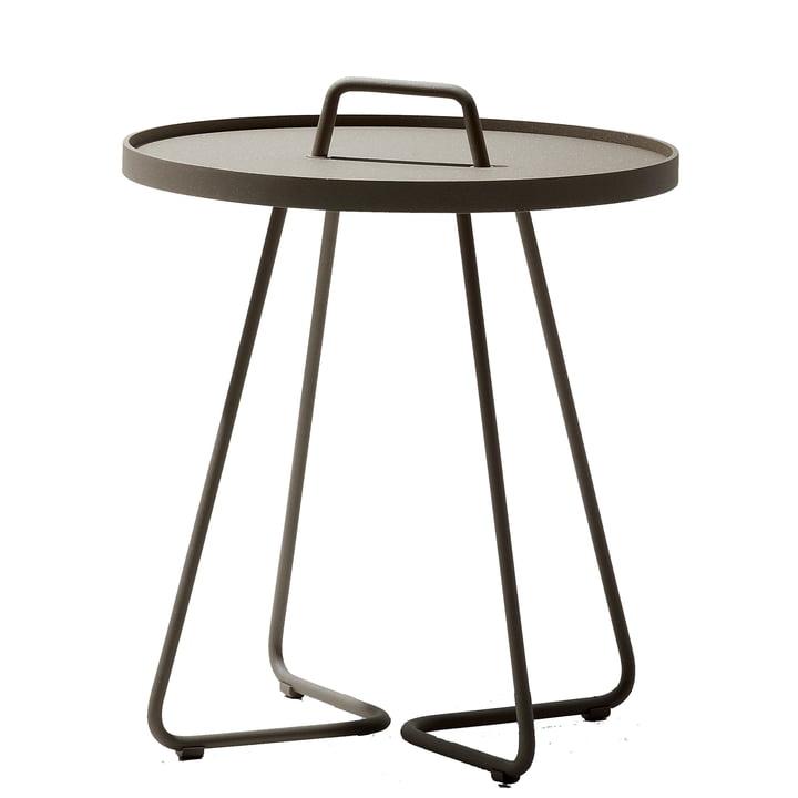 On-the-move Table d'appoint de Caneline en Ø 52 x H 60 cm / taupe