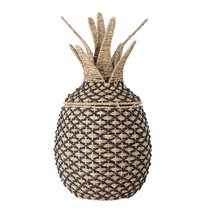 Panier de rangement ananas Bloomingville en nature / noir