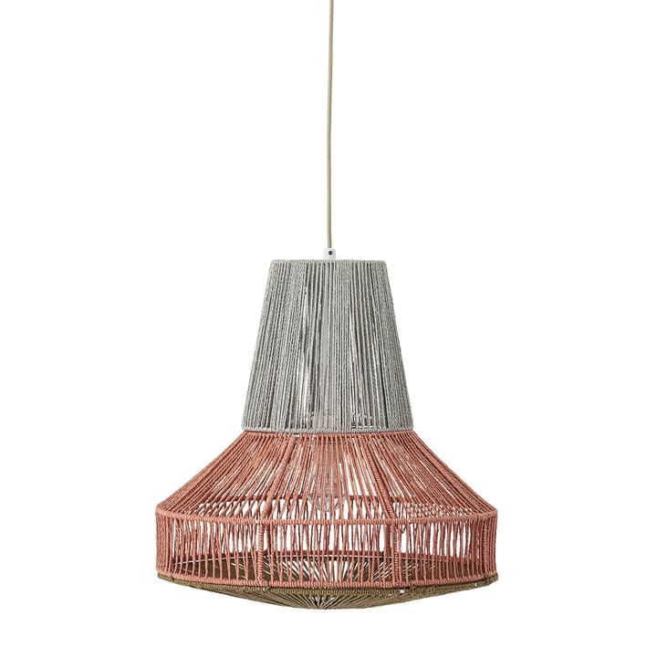 Lampe à suspension en coton Ø 45 x H 45 cm de Bloomingville en gris / rouge