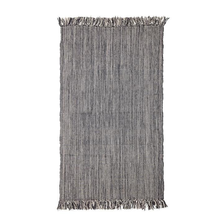Tapis à franges 150 x 90 cm de Bloomingville en gris
