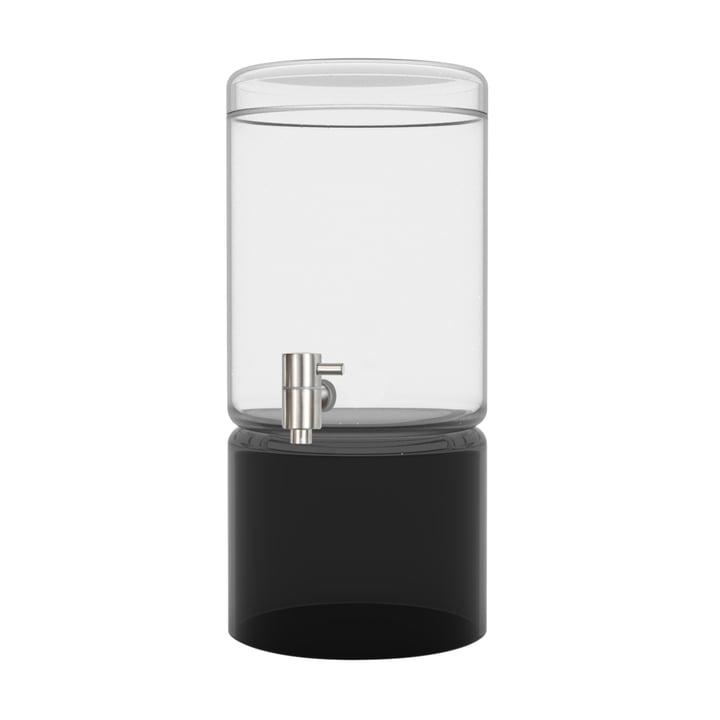 Distributeur de boissons en verre noir de 5 litres