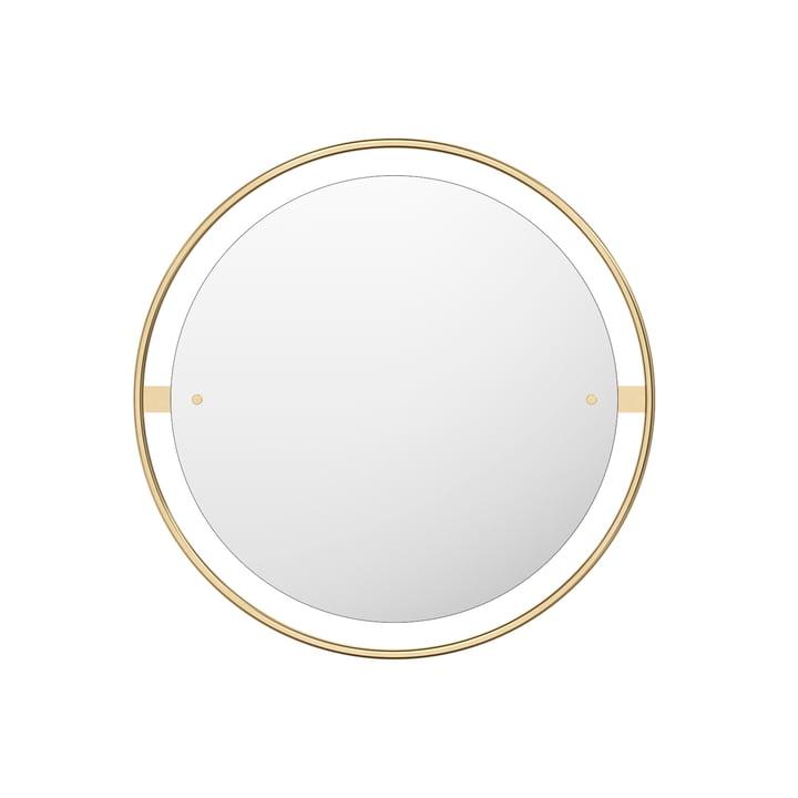 Miroir Nimbus Ø 60 cm, laiton poli par Menu