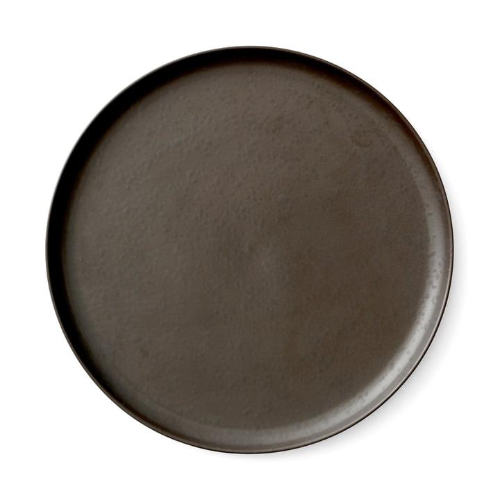 Menu - Plaque New Norm Ø 27 cm, émaillée foncée
