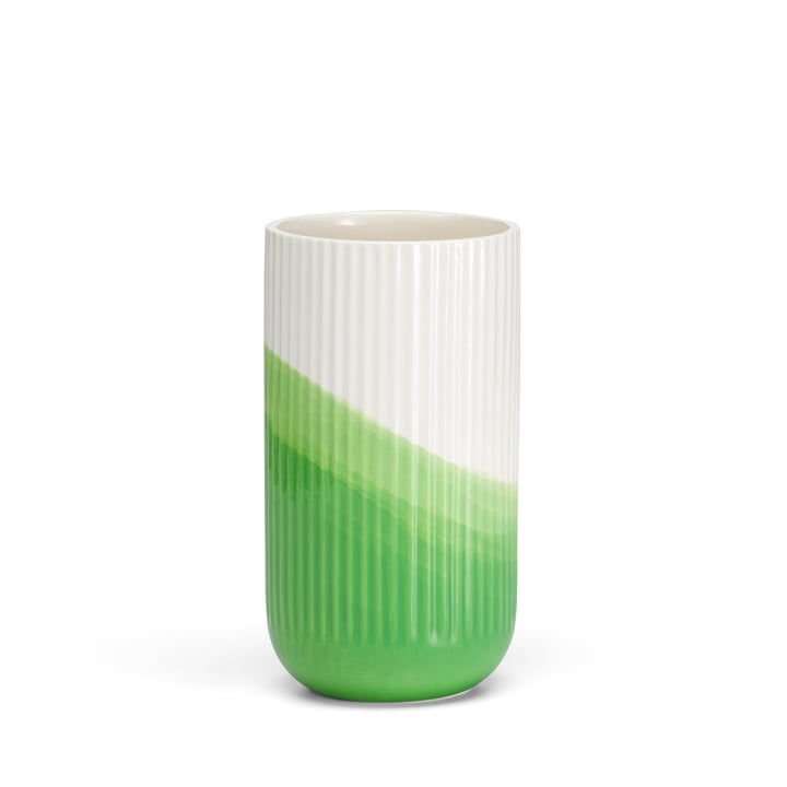 Vitra - Vase à chevrons nervuré H 24,5 cm, vert