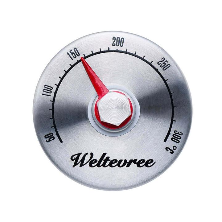 Thermomètre pour fours extérieurs en acier de Weltevree