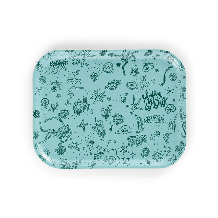 Classic Tray medium Sea Things from Vitra en bleu clair