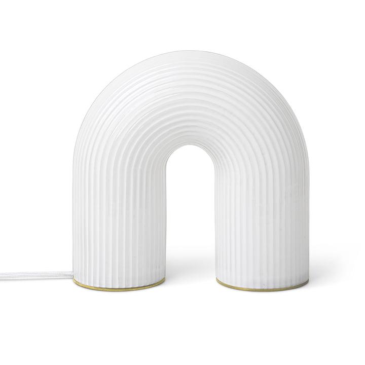Vuelta Lampe de table / blanc par ferm Living