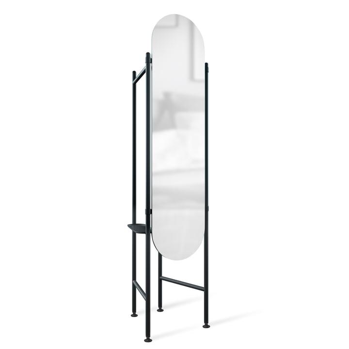 Vala Miroir debout avec armoire de Umbra noir
