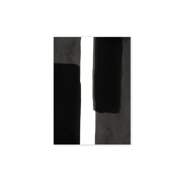 Affiche Enso Black I, 30 x 40 cm de Paper Collective