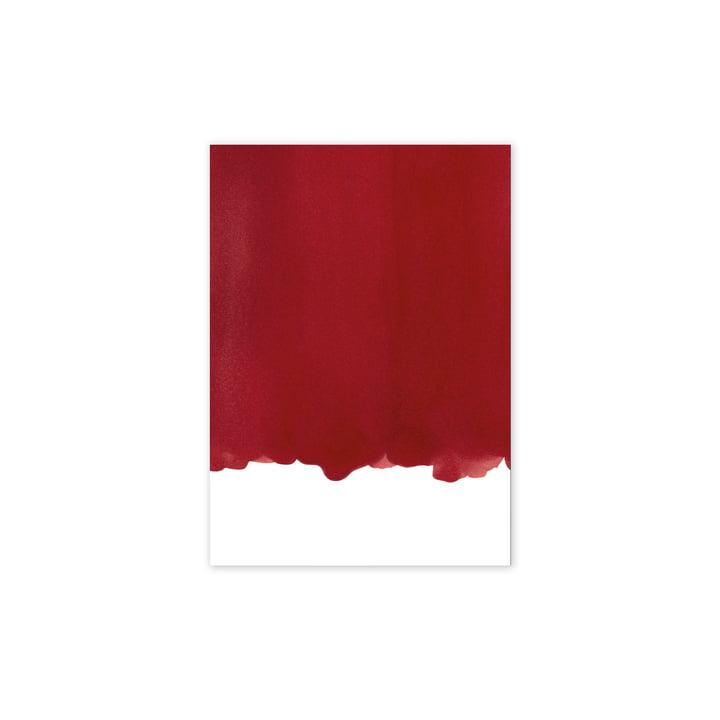 Affiche Enso Red I, 30 x 40 cm de Paper Collective