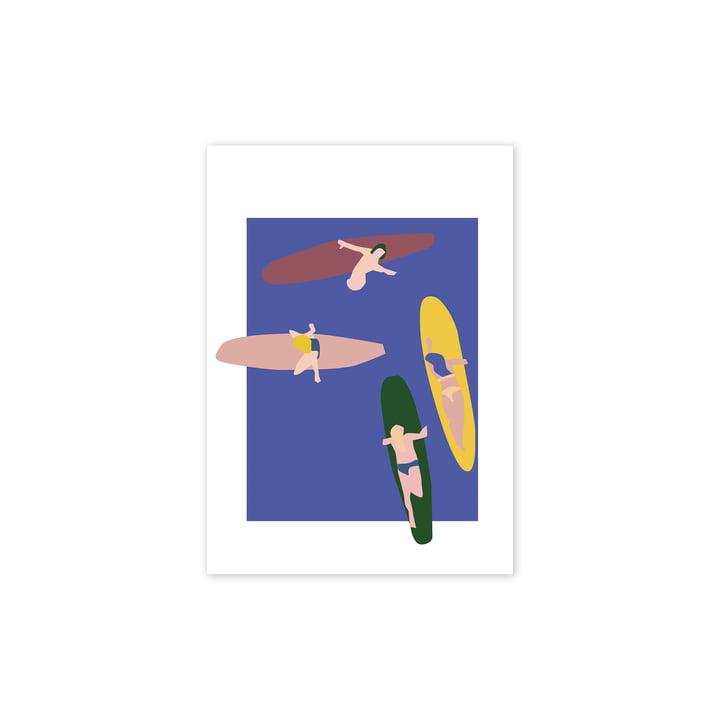 Surfers Affiche, 30 x 40 cm de Paper Collective
