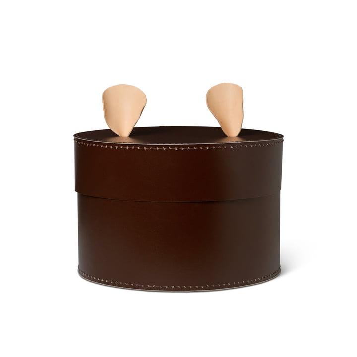 Boîte de stockage d'ours par ferm Vivre en brun