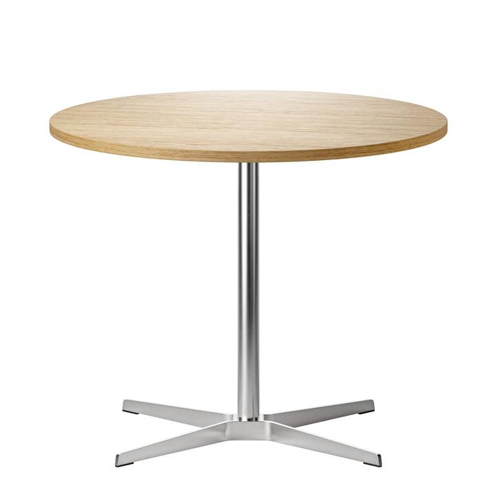 1818 Table de bistrot Ø 90 cm Thonet en acier inoxydable / chêne verni clair