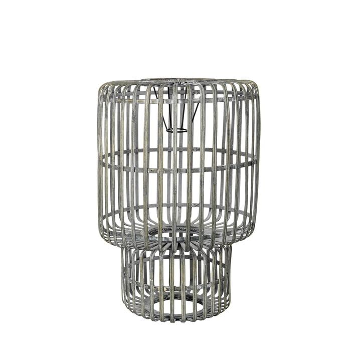 Zelly Abat-jour en bambou, Ø 35 x H 50 cm, gris métal par Broste Copenhagen